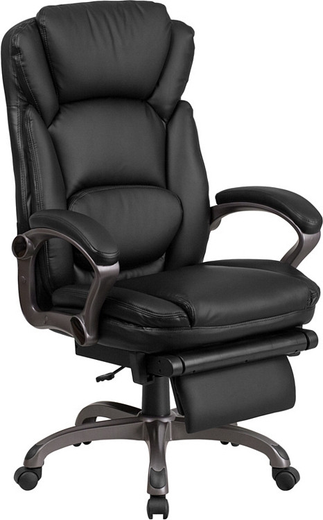 Flash Furniture High Back Black Leather Executive Reclining Swivel Chair with Arms 1