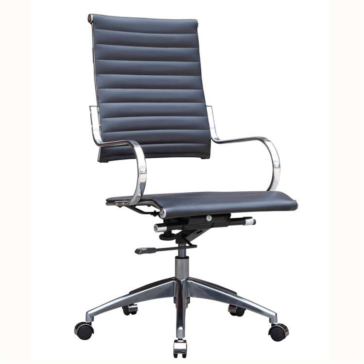 Fine Mod Flees Office Chair High Back, Black