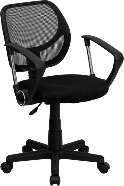 Flash Furniture Black Mesh Swivel Task Chair with Arms