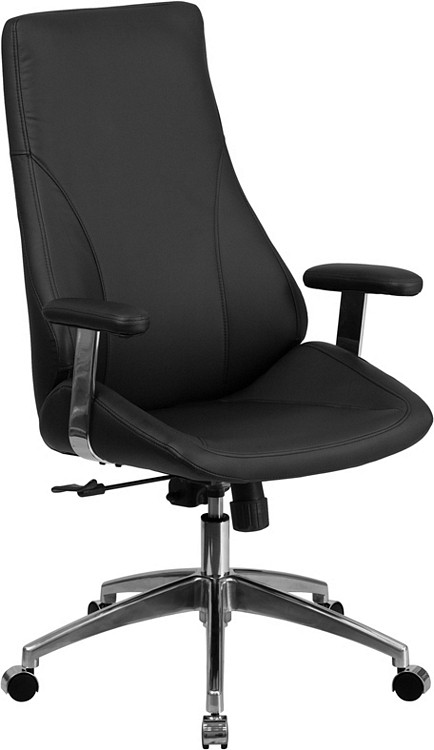 Flash Furniture High Back Black Leather Executive Swivel Chair with Arms 2