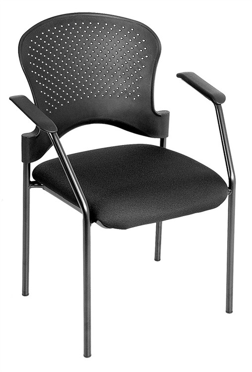 Eurotech Breeze Black Frame Side Chair no Casters in Black