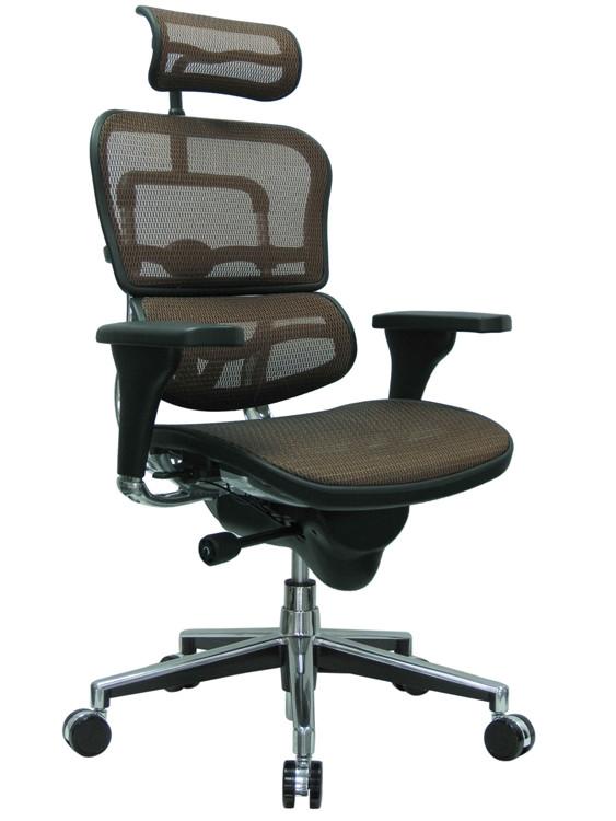 Eurotech Ergohuman High Back Office Chair in Orange Mesh