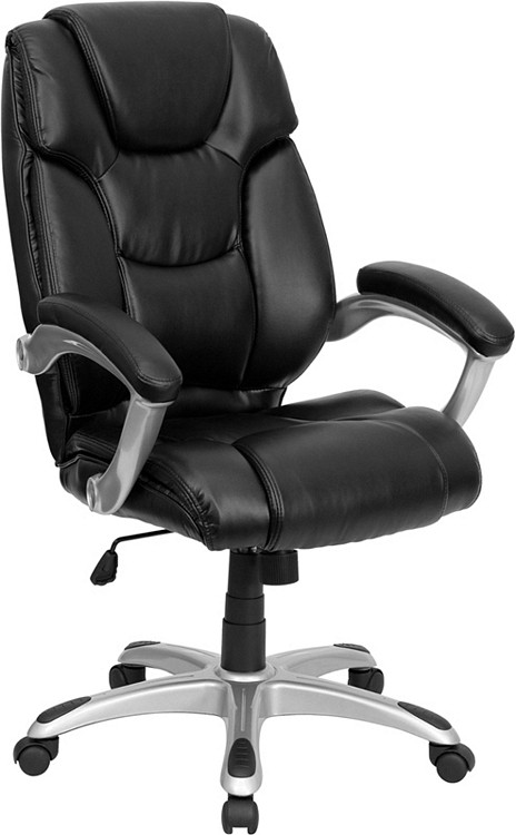 Flash Furniture High Back Black Leather Executive Swivel Chair