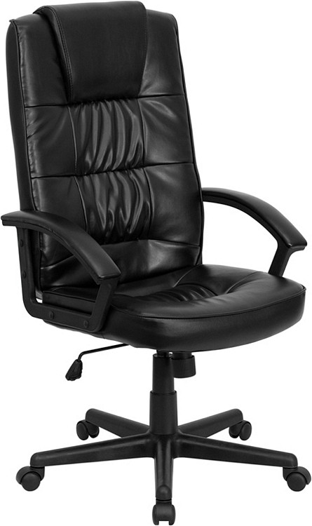 Flash Furniture High Back Black Leather Executive Swivel Chair with Arms 14