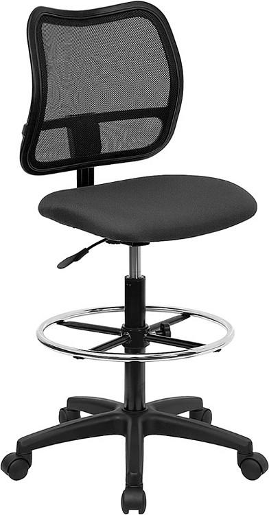 Flash Furniture Mid-Back Gray Mesh Drafting Chair