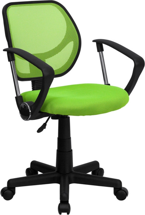 Flash Furniture Green Mesh Swivel Task Chair with Arms