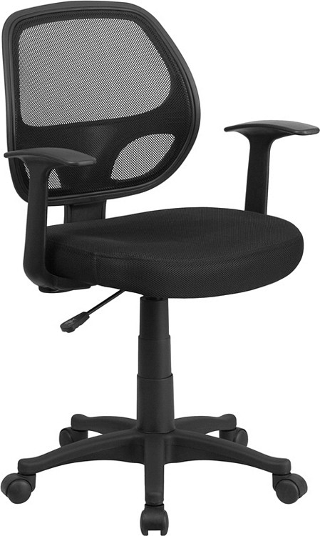 Flash Furniture Mid-Back Black Mesh Swivel Task Chair with Arms 1