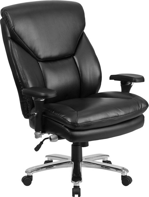 Flash Furniture HERCULES Series 24/7 Intensive Use Big & Tall 400 lb. Rated Black Leather Executive Swivel Chair with Lumbar Knob