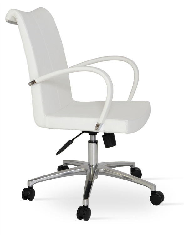 Soho Concept Tulip Arm Office Chair in Wool