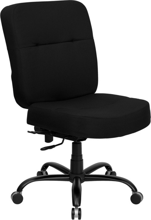 Flash Furniture HERCULES Series Big & Tall 400 lb. Rated Black Fabric Executive Swivel Chair 2
