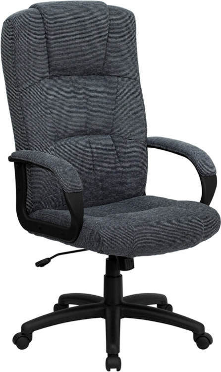 Flash Furniture High Back Gray Fabric Executive Swivel Chair with Arms 1