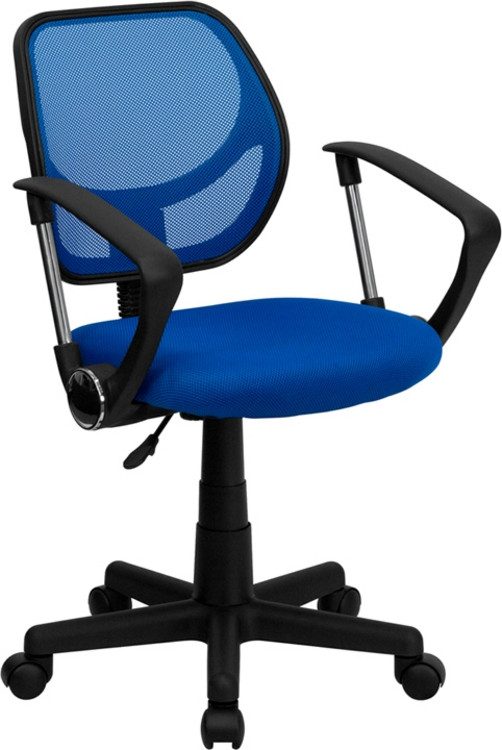 Flash Furniture Blue Mesh Swivel Task Chair with Arms