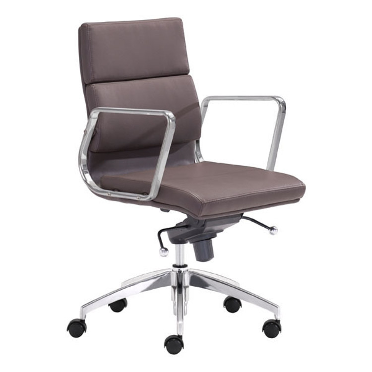 Zuo Modern Engineer Low Back Office Chair Espresso