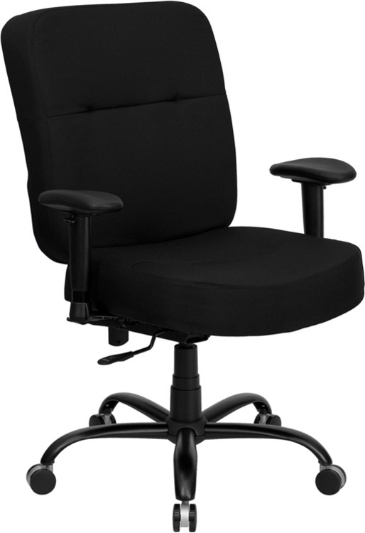 Flash Furniture HERCULES Series Big & Tall 400 lb. Rated Black Fabric Executive Swivel Chair with Adjustable Arms 3