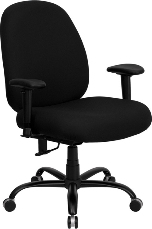 Flash Furniture HERCULES Series Big & Tall 400 lb. Rated Black Fabric Executive Swivel Chair with Adjustable Arms 2