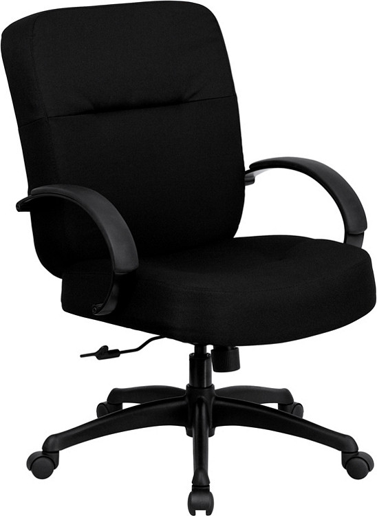 Flash Furniture HERCULES Series Big & Tall 400 lb. Rated Black Fabric Executive Swivel Chair with Arms