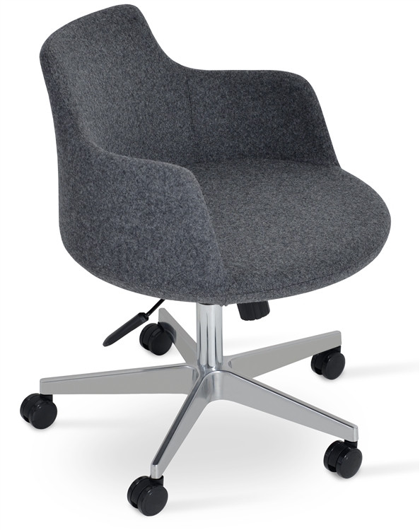 Soho Concept Dervish Office Chair in Camira Wool