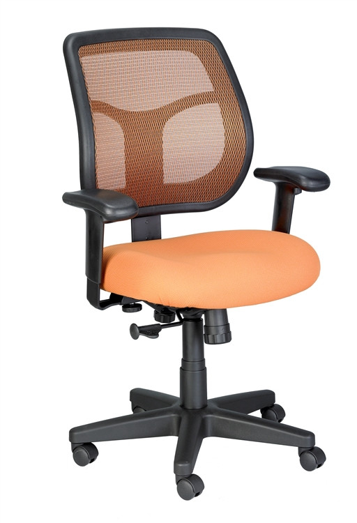 Eurotech Apollo Mid Back Task Chair in Orange