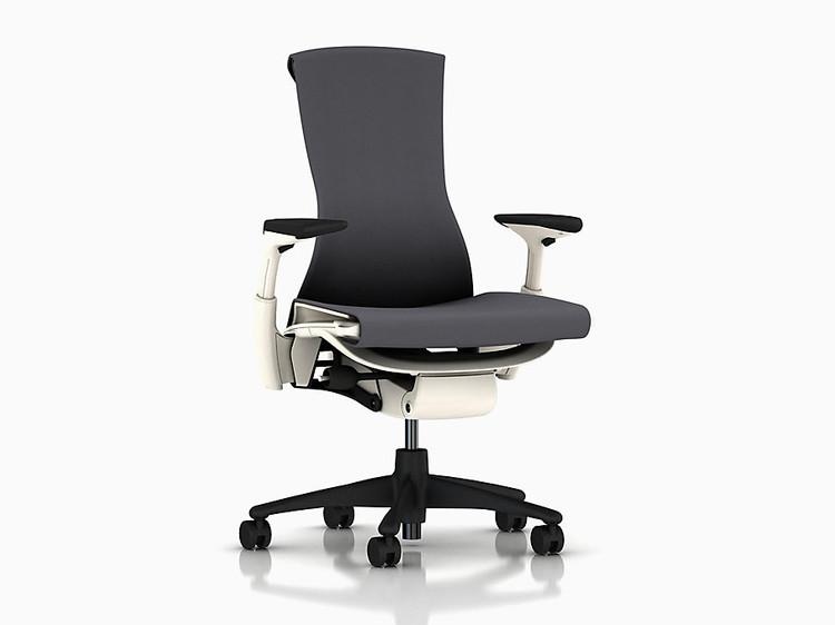 Herman Miller Embody Chair in Black White Frame