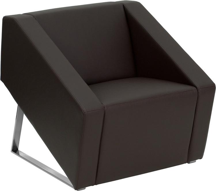 Lemoderno Smart Series Brown Leather Lounge Chair