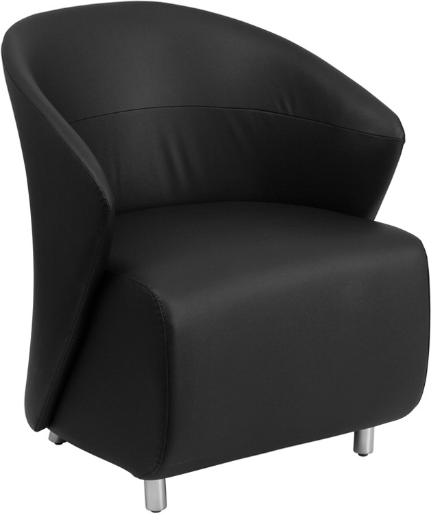 Lemoderno Black Leather Lounge Chair