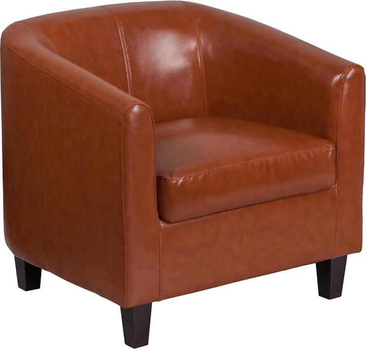 Lemoderno Cognac Leather Lounge Chair