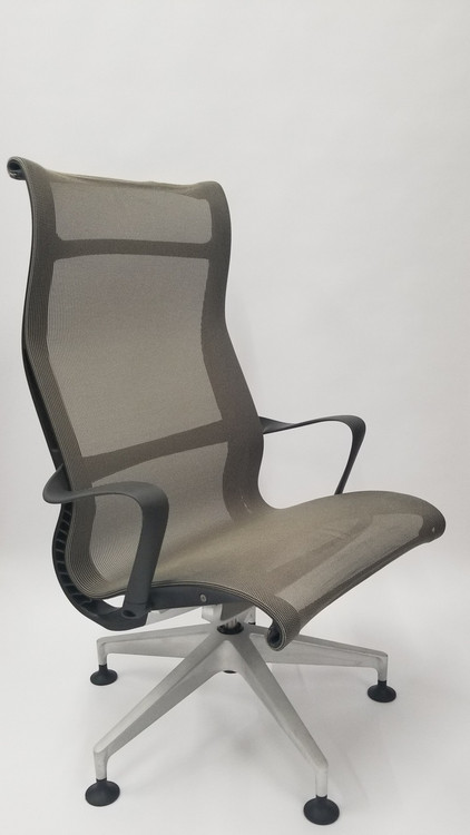 Herman Miller Setu Lounge Chair with Stationary Casters