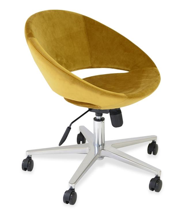 Soho Concept Crescent Office Chair in Velvet