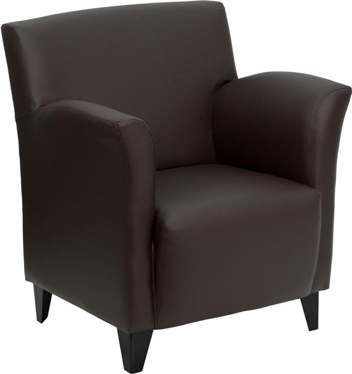Lemoderno Roman Series Brown Leather Lounge Chair