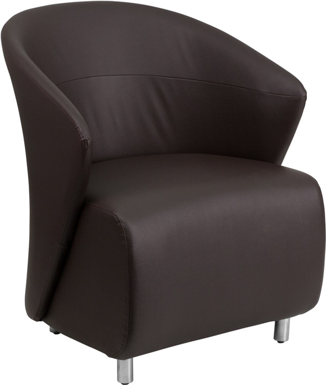 Lemoderno Dark Brown Leather Lounge Chair