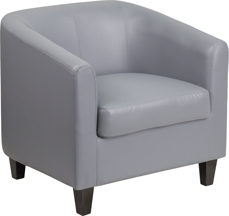 Lemoderno Gray Leather Lounge Chair