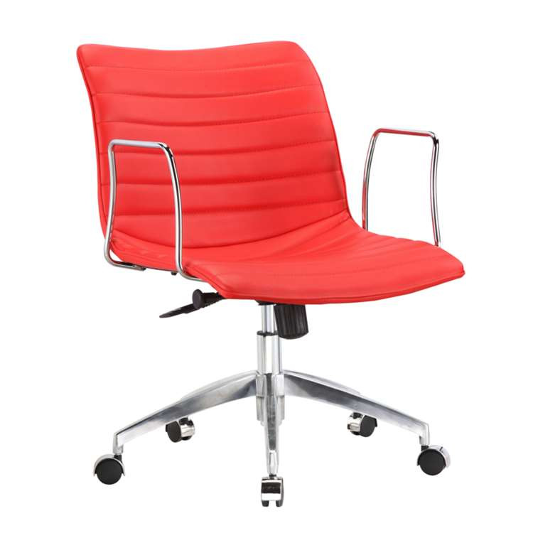Fine Mod Comfy Office Chair Mid Back, Red