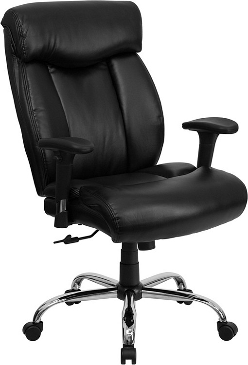Flash Furniture HERCULES Series Big & Tall 400 lb. Rated Black Leather Executive Swivel Chair with Adjustable Arms