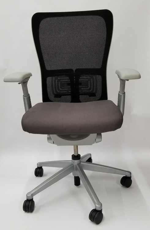 Bulk Lot 50 Haworth Zody Chair Mesh Back In Gray Fully Adjustable Model
