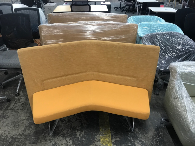 Keilhauer Talk Mid Back Sofa Mustard Color