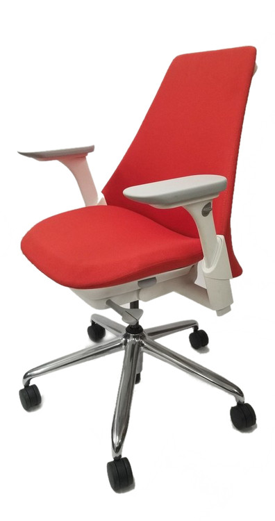 Herman Miller Sayl Chair Red Fabric Seat and Back