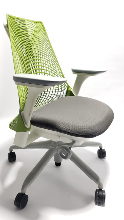 Herman Miller Sayl Chair Green Back and Black Seat