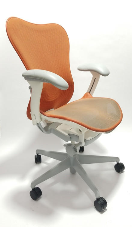 Herman Miller Mirra V2 Chair In Orange Fully Adjustable Model With Adjustable Lumbar Support  sc 1 st  Seating Mind & Herman Miller Mirra 2 Chair