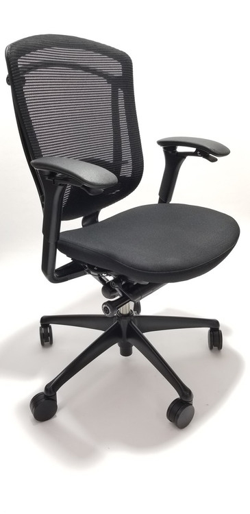 Nuova Conteesa Teknion Black Mesh Seat and Back + Fully Adjustable Model