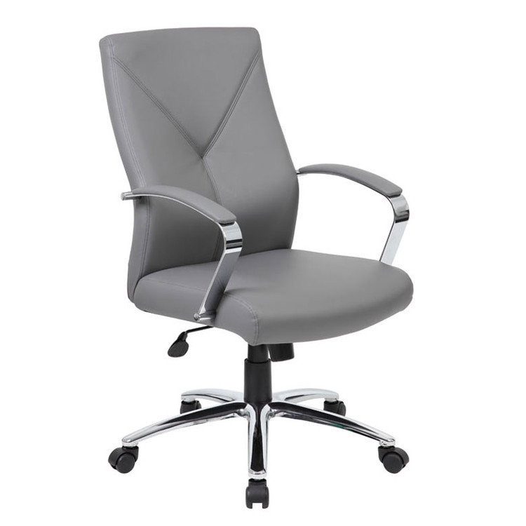 Boss LeatherPlus Executive Chair B10101-GY