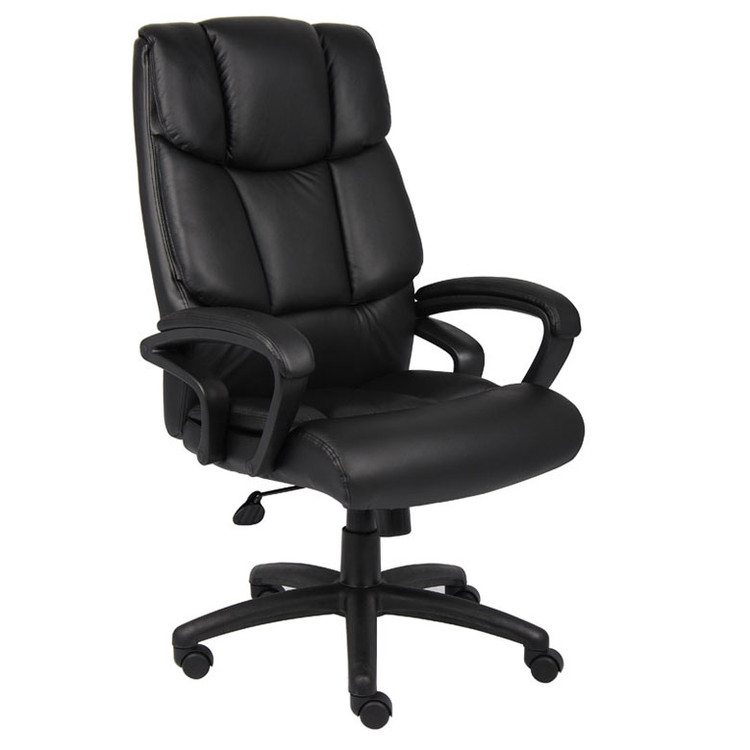 "Boss ""Ntr"" Executive Top Grain Leather Chair W/ Knee Tilt B8702"
