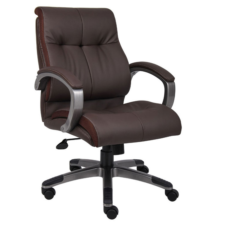 Boss Double Plush Mid Back Executive Chair B8776P-BN