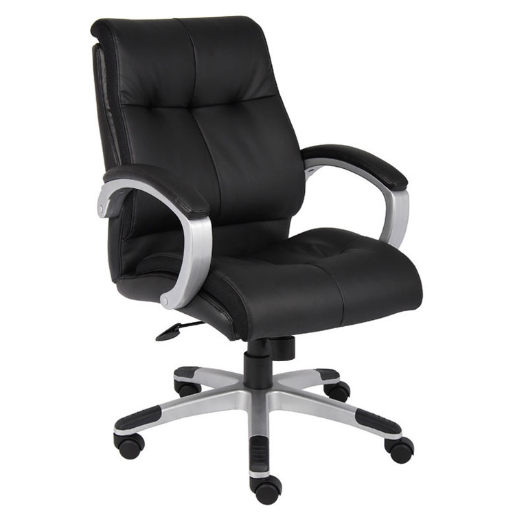 Boss Double Plush Mid Back Executive Chair B8776S-BK