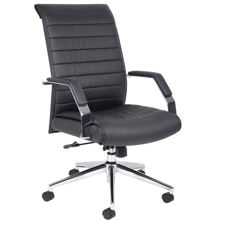 Boss Executive High Back Ribbed Chair B9441