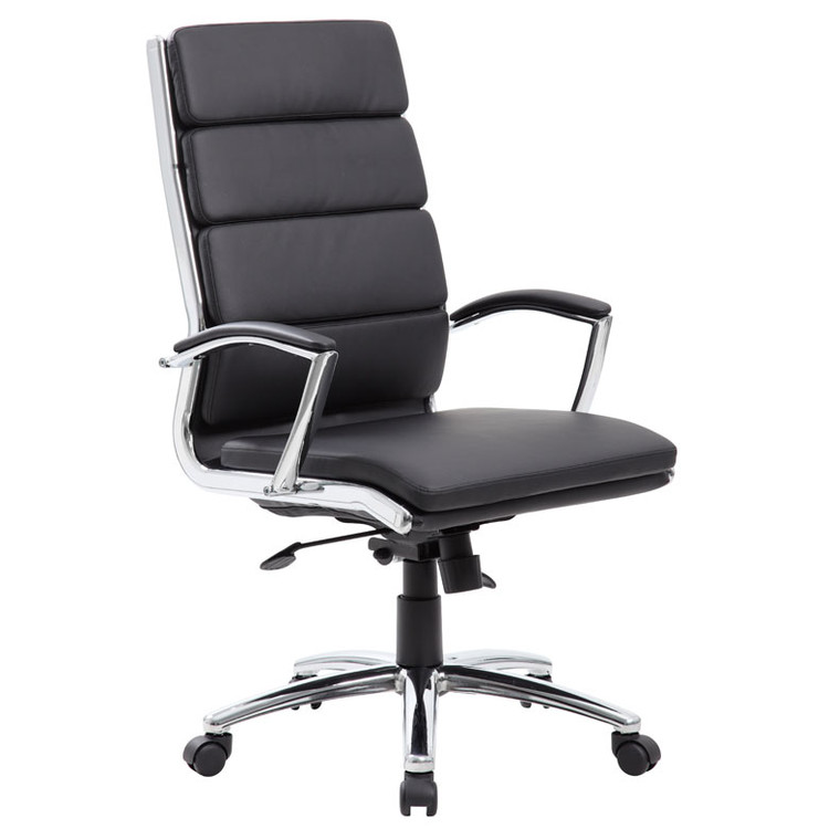Boss Executive CaressoftPlus™ Chair with Metal Chrome Finish B9471-BK