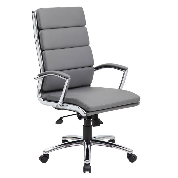 Boss Executive CaressoftPlus™ Chair with Metal Chrome Finish B9471-GY