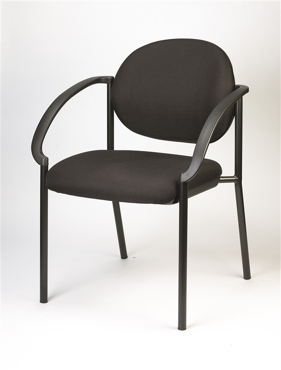 Eurotech Dakota Side Chair with Curved Arms in Black