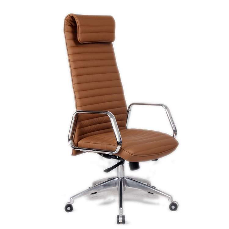 Fine Mod Ox Office Chair High Back, Light Brown