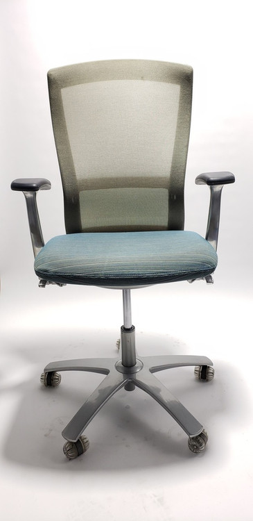 Knoll Life Chair Fully Adjustable Model Off White Mesh