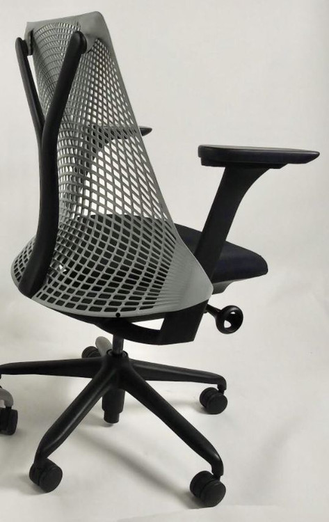 Herman Miller Sayl Chair Black and Gray Back